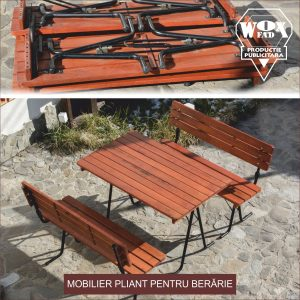 mobilier PLIANT LEMN FIER BERARIE woxfad targoviste