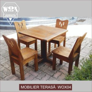 mobilier terasa lemn masiv wox04 woxfad targoviste