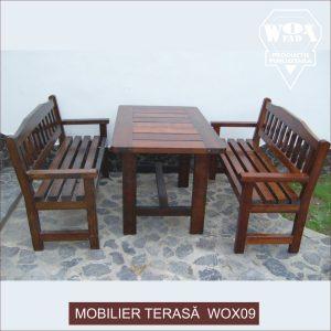 mobilier terasa lemn masiv wox09 woxfad targoviste